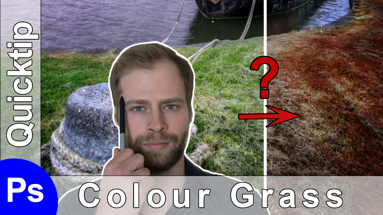 how to change the colour of grass in photoshop