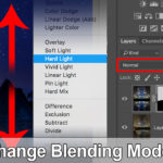 change blending modes fast in photoshop