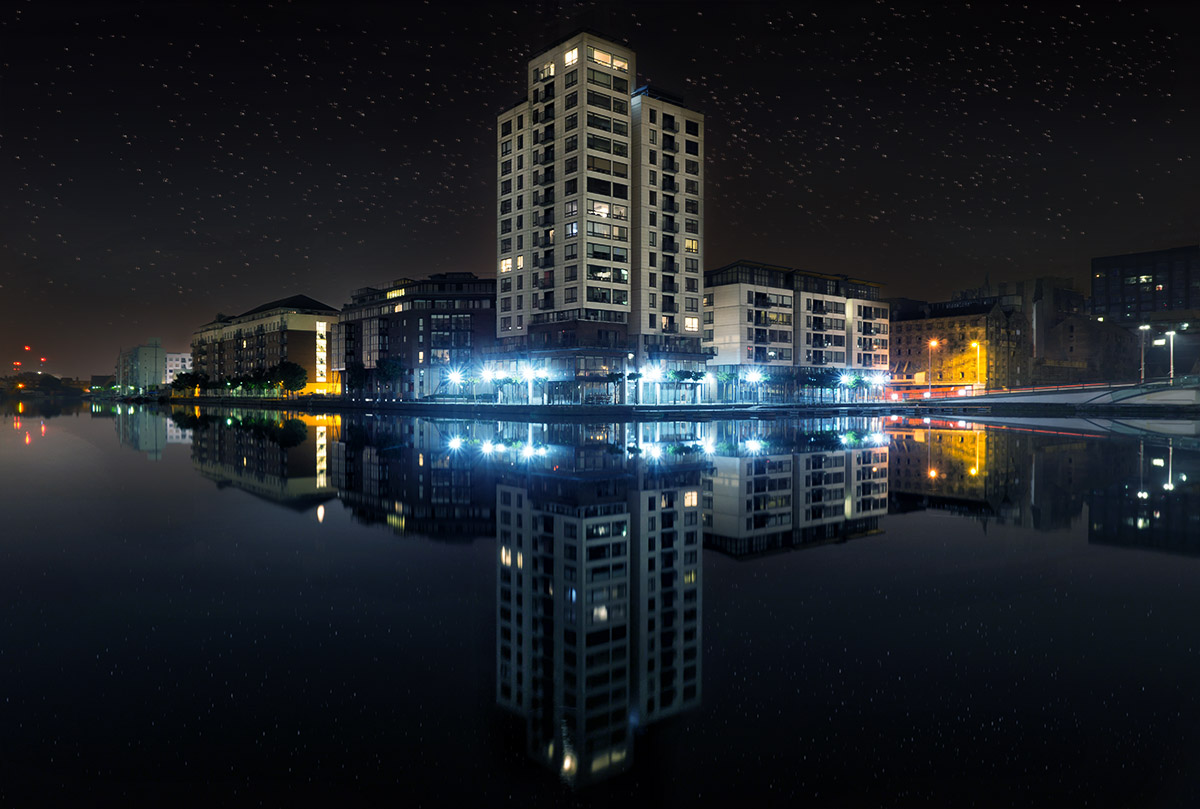 How to Create Stars in Photoshop - Example: Dublin Docks | Photoshop Tutorial