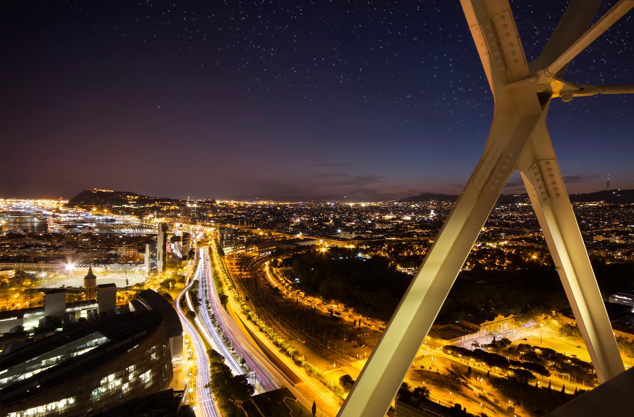 barcelona night image sky view week photo