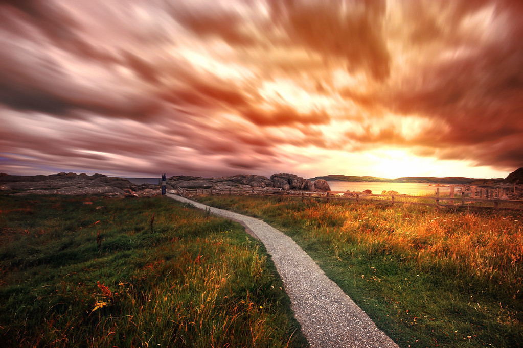 How to Create a Sunset in Photoshop - Example: Northern Ireland   Photoshop Tutorial