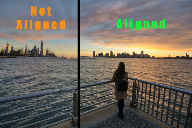 HDR photography align the image