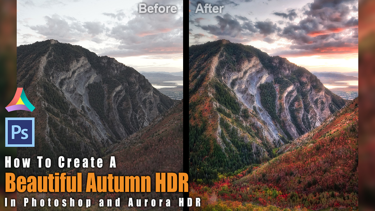 create a beautiful autumn HDR with aurora HDR and Photoshop beginner tutorial