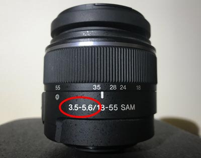 where to find aperture on lens