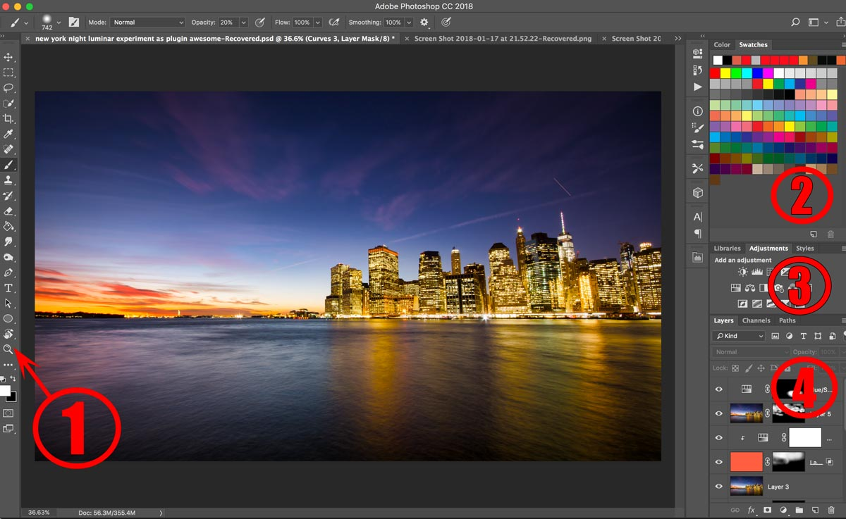 photoshop CC review beginner tutorial interface example