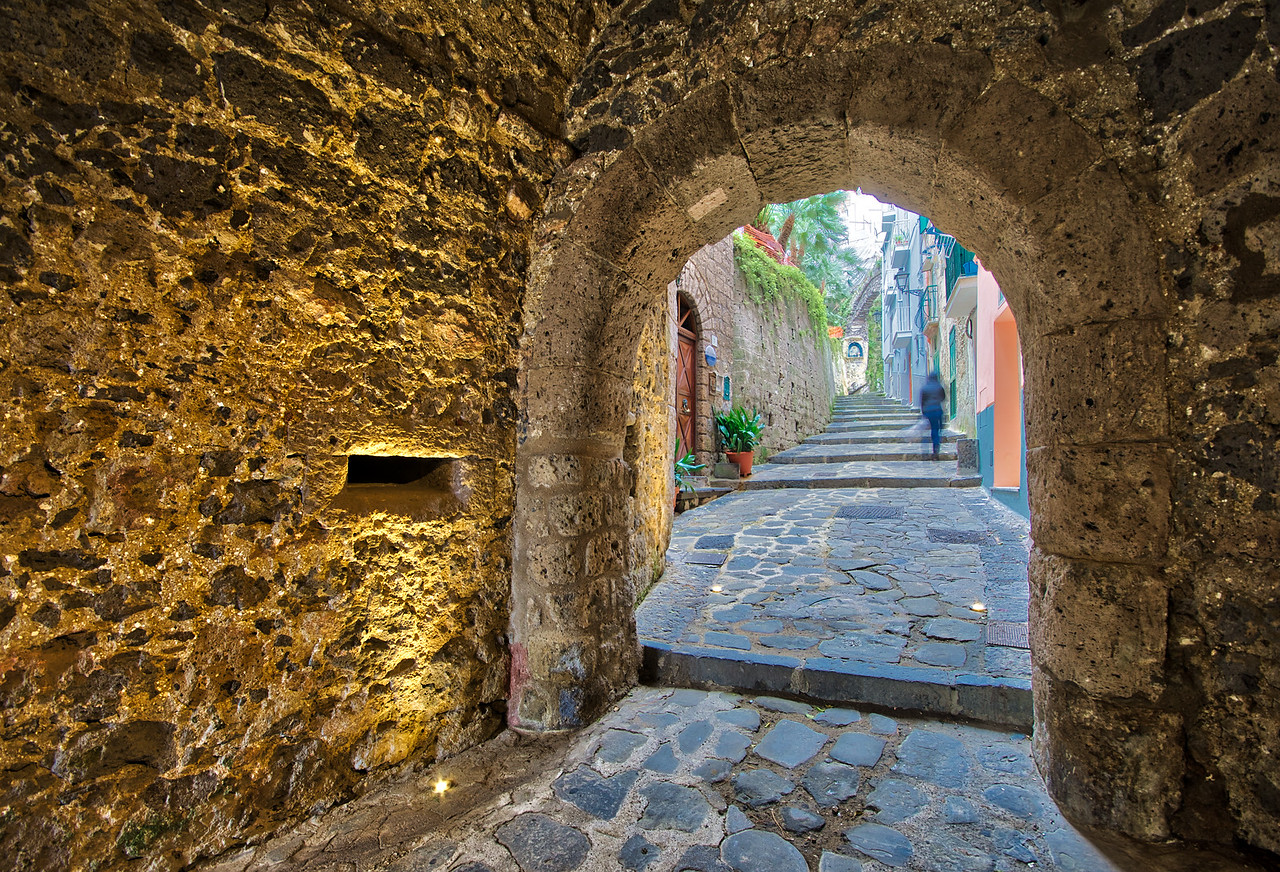 italy, amalfi coast, water, ocean, sea, it alien, italiano, letsimage, phillip glombik, sorrento, cave, stone, light, street, urban, arch, path, street photography, human, walking, golden, wide