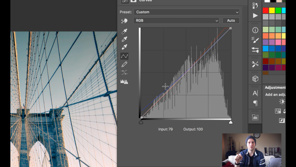 color grading in photoshop curves snap