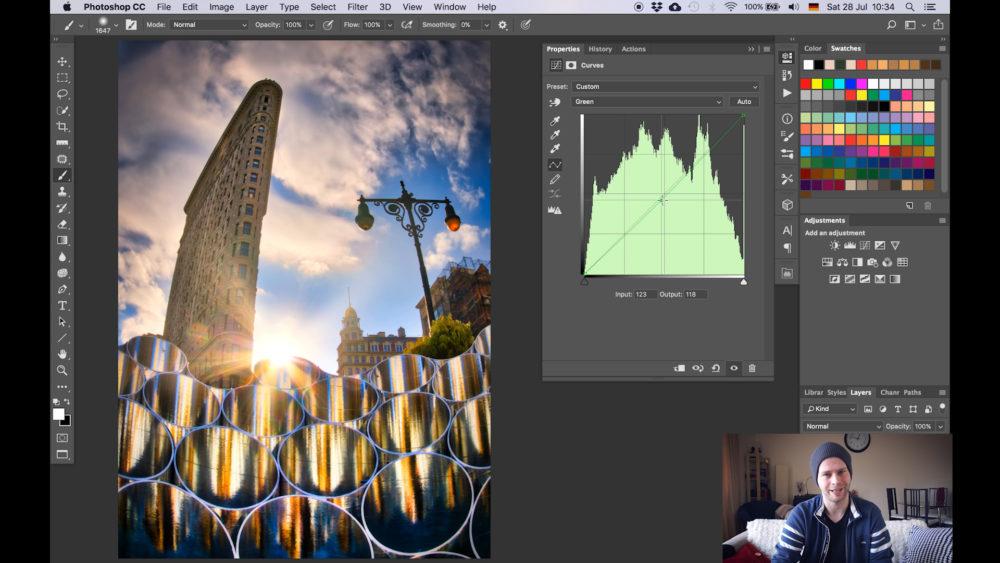 remove color cast using photoshop snap
