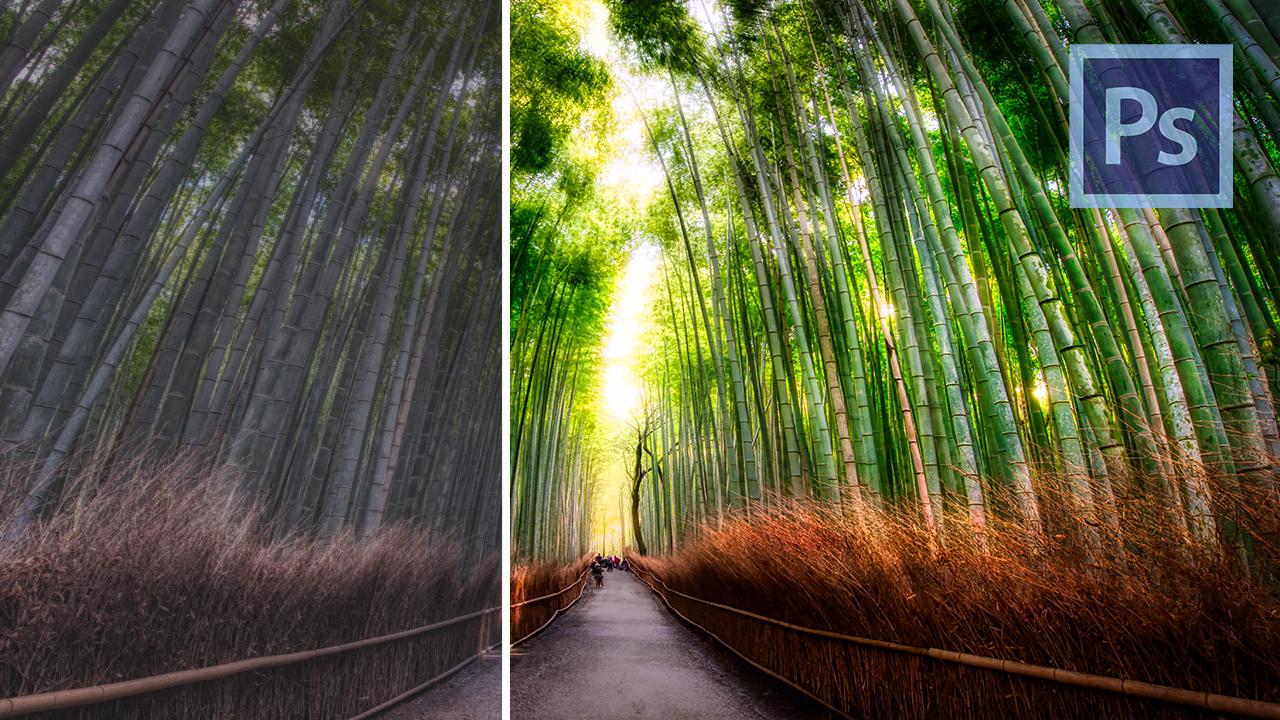 photoshop editing tutorial landscape beginner guide